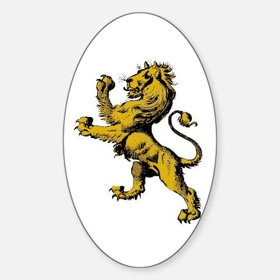 Rampant Lion Sticker (Oval)