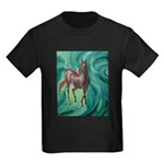 chestnut arabian horse Kids Dark T-Shirt
