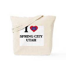 I love Spring City Utah Tote Bag