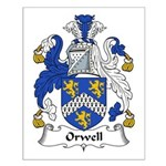 Orwell Family Crest Small Poster