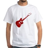 Guitar Mens Classic White T-Shirts