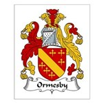 Ormesby Family Crest Small Poster