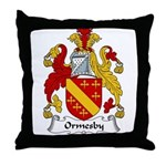 Ormesby Family Crest Throw Pillow