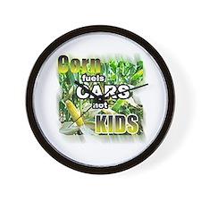 Corn Fuels Cars Not Kids Wall Clock