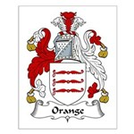 Orange Family Crest Small Poster