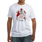 Orange Family Crest Fitted T-Shirt