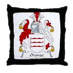 Orange Family Crest Throw Pillow