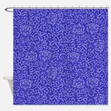 Tudor Garden Purple Blue Shower Curtain