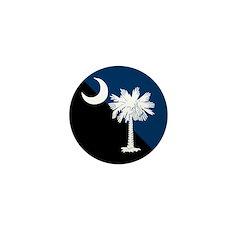 Blue and Black South Carolina Flag Mini Button