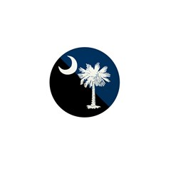 Blue and Black South Carolina Flag Mini Button
