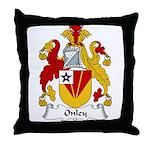 Onley Family Crest Throw Pillow