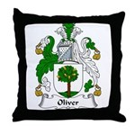 Oliver Family Crest Throw Pillow