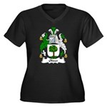Oliver Family Crest Women's Plus Size V-Neck Dark