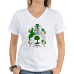 Oliver Family Crest Women's V-Neck T-Shirt