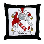 Oldfield Family Crest Throw Pillow