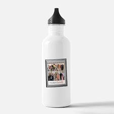 Modern Family Portrait Water Bottle