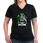 Oddy Family Crest Women's V-Neck Dark T-Shirt
