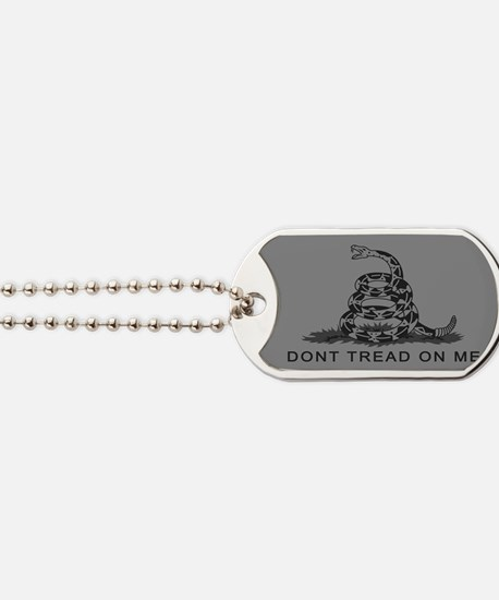 Cute Dont tread on me flags Dog Tags