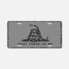 Cute 2nd amendment gun permit Aluminum License Plate