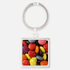 cute chocolate candy  Square Keychain