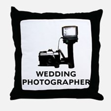 Wedding Photographer Throw Pillow