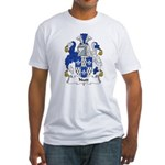 Nutt Family Crest  Fitted T-Shirt