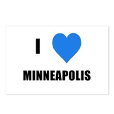 I Love Minneapolis Postcards (Package of 8)