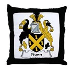 Nunn Family Crest Throw Pillow
