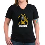 Nunn Family Crest Women's V-Neck Dark T-Shirt