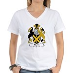 Nunn Family Crest Women's V-Neck T-Shirt