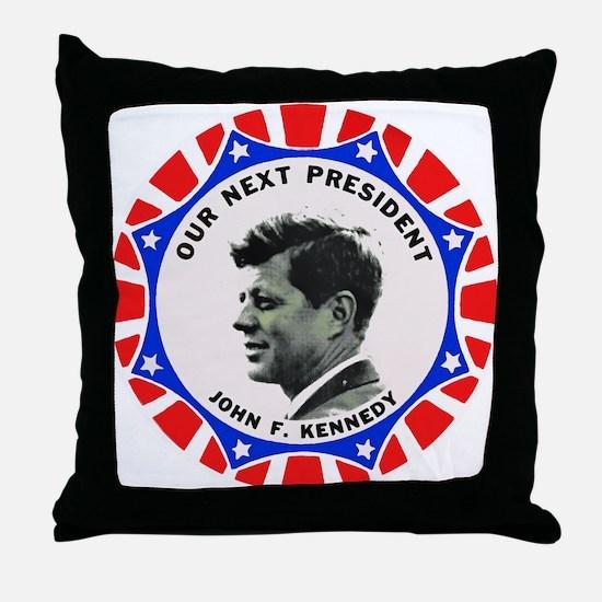 John F. Kennedy : Our Next President Throw Pillow