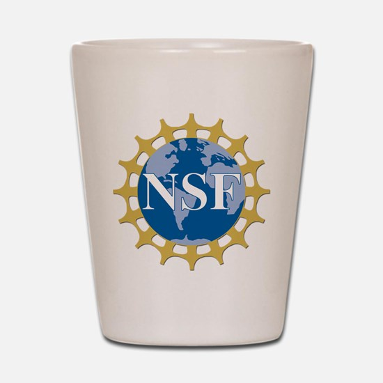 National Science Foundation Crest Shot Glass