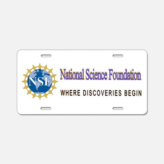 National Science Foundation Aluminum License Plate