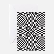 Op Art Background Greeting Cards