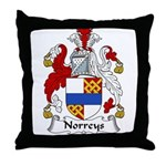 Norreys Family Crest Throw Pillow