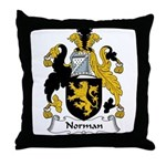 Norman Family Crest Throw Pillow