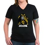 Norman Family Crest Women's V-Neck Dark T-Shirt