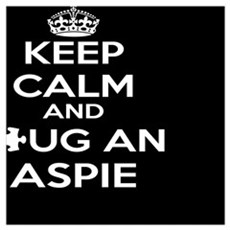 Keep Calm and Hug an Aspie Framed Print