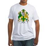 Noone Family Crest  Fitted T-Shirt