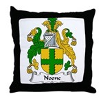 Noone Family Crest Throw Pillow