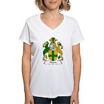 Noone Family Crest  Women's V-Neck T-Shirt
