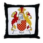 Noel Family Crest Throw Pillow