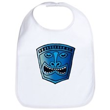 Blue Tiki Head Bib