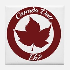 Eh Canada Day Tile Coaster