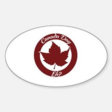 Eh Canada Day Sticker (Oval)