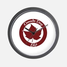 Eh Canada Day Wall Clock