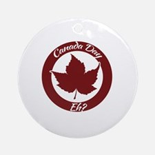 Eh Canada Day Round Ornament