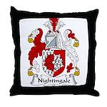 Nightingale Family Crest Throw Pillow