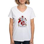 Nightingale Family Crest Women's V-Neck T-Shirt