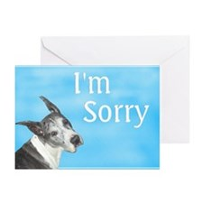 I'm Sorry Merle Great Dane Cards (10p)